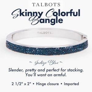 Talbots Skinny Colorful Bangle Indigo Blue